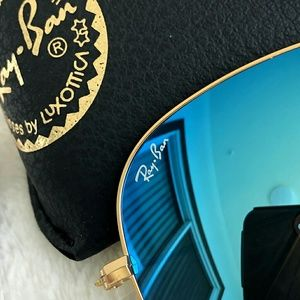 Ray-Ban Accessories - ICE BLUE RAY-BAN AVIATOR 100% AUTHENTIC